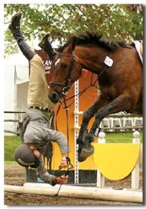 Get ahead of your horse and you may take the jump without him.