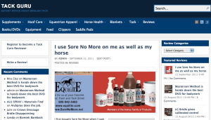 Tack Guru Review on Sore No more