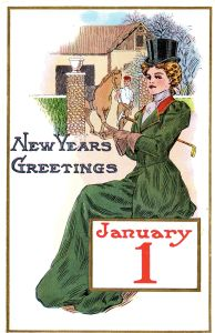 Happy New Year: A Victorian Postcard from the early 1900s