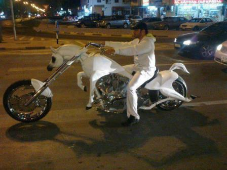 Motorcycle Horse
