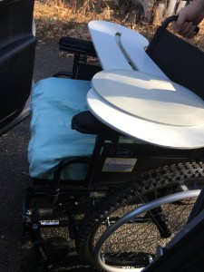 Wheelchair and board