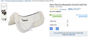Ultra thinline sheepskin comfort pad