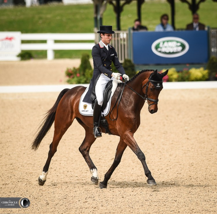 Colero and Felix Vogg lead dressage