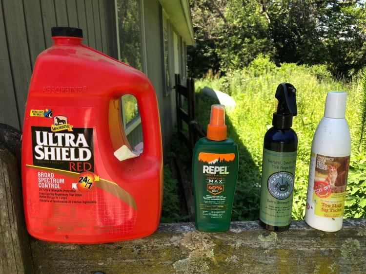 Fly spray choices