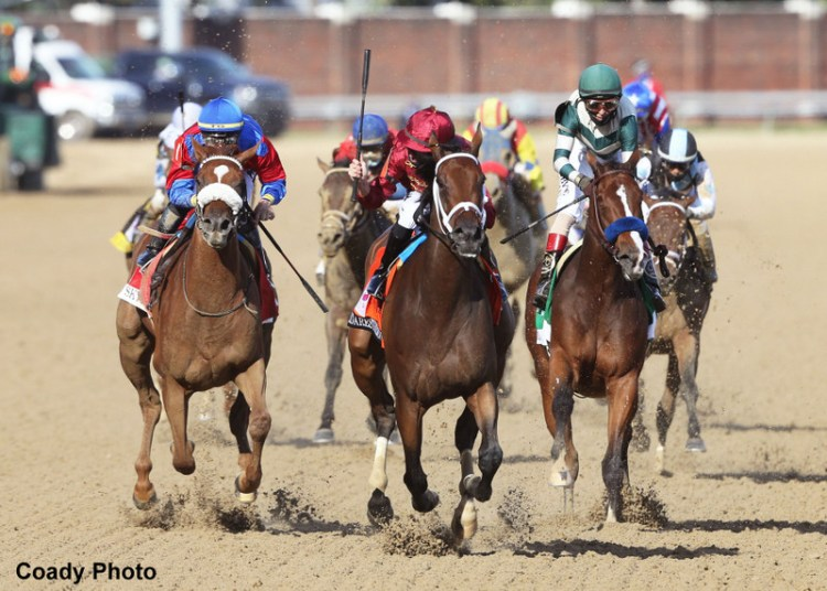 Two Daredevil fillies came in first and second in the Kentucky Oaks
