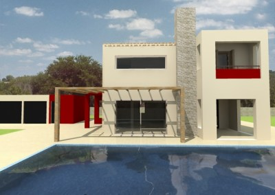 Two storey vacation house