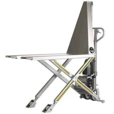 Transpalette électrique haute levée inox ou semi inox