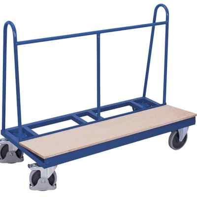 Chariot porte panneaux avec plateau bois