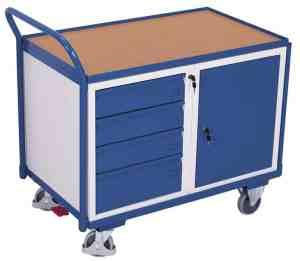 Etabli mobile 1 plateau, 4 tiroirs et 1 coffre