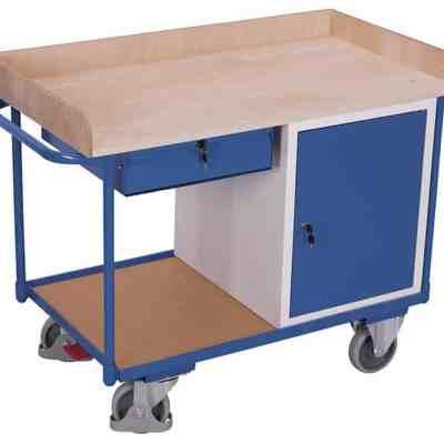 Etabli mobile 1 coffre 1 tiroir et un plateau