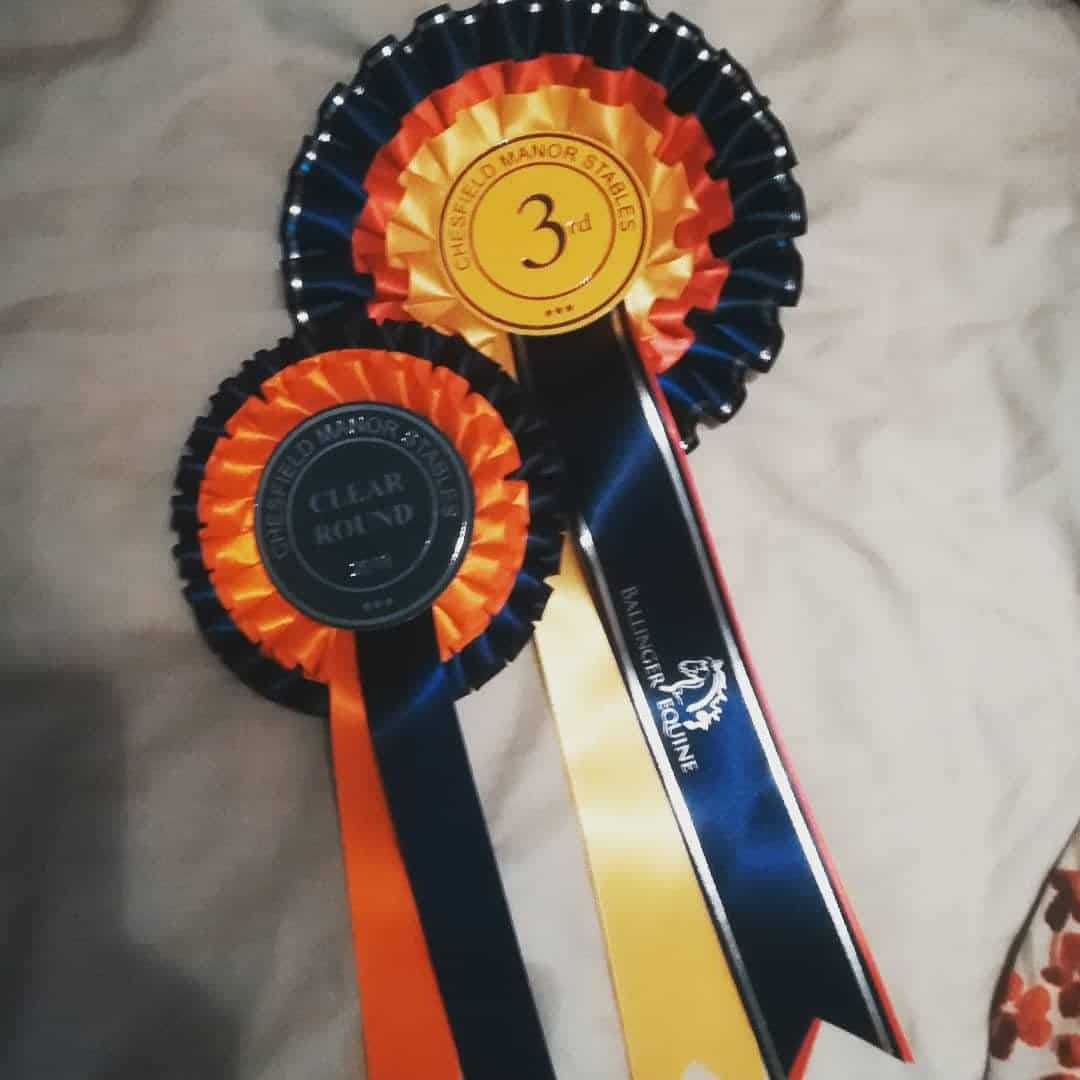 show jumping rosettes