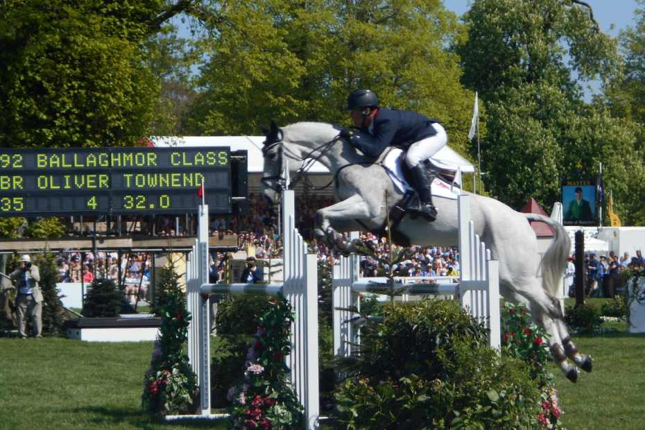 Oliver Townend Badminton 2018 heading to tokyo olympics with Ballaghmor class