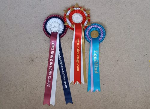 1st placed new and traditional rosettes