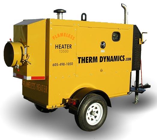 TD600K-200A-U Flameless Heater - New Kubota engine FULL Waranty
