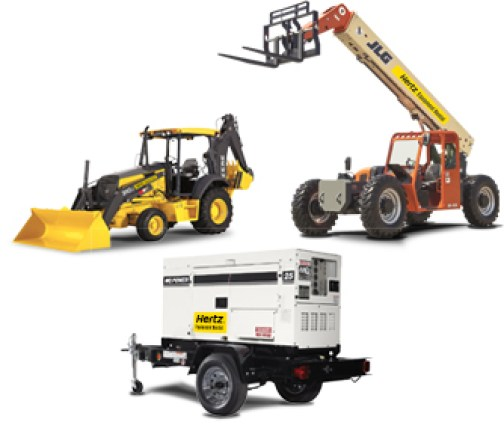 heavy equipment rental collage