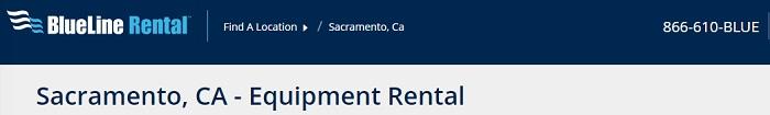 equipment rental sacramento