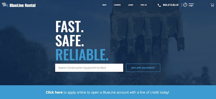 blueline rental website