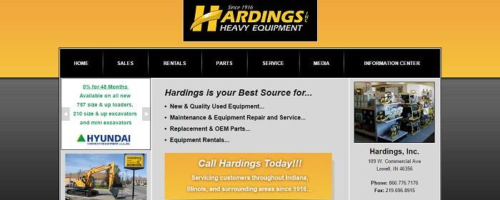 construction equipment rental indiana hardings heavy equipment