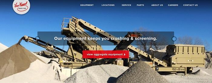 construction equipment rental kansas van keppel