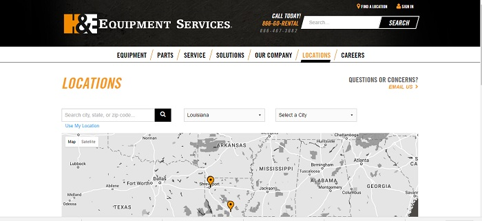 construction equipment rental louisiana equipment services