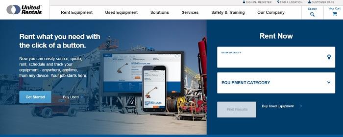 construction equipment rental massachusetts united rentals