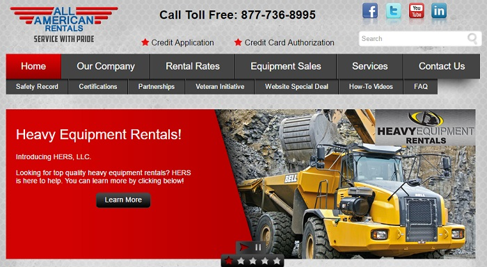 equipment rental san jose All American Rentals