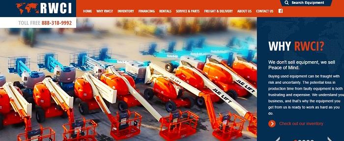 RWCI equipment rental illinois homepage
