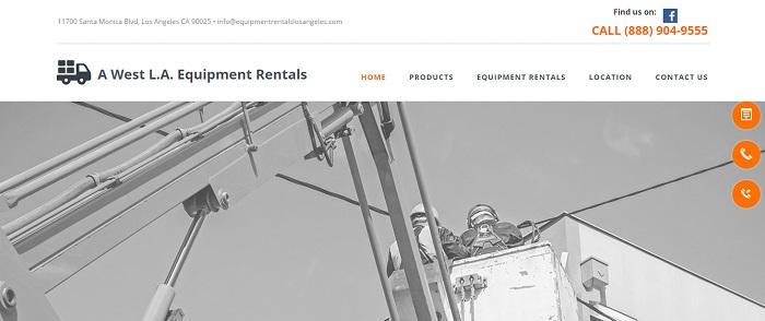 construction equipment rental los angeles