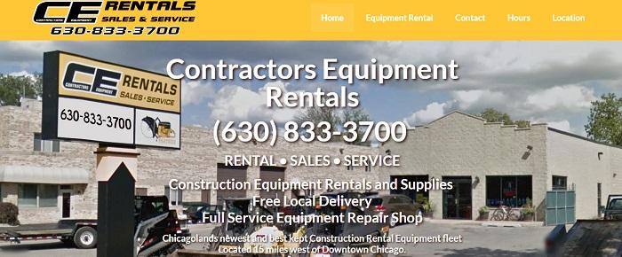 construction equipment rental illinois CE Rentals homepage