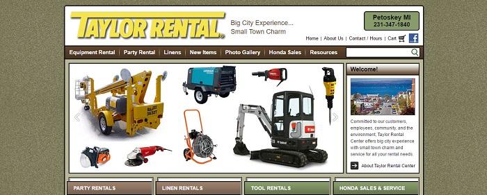 construction equipment rental michigan taylor rental