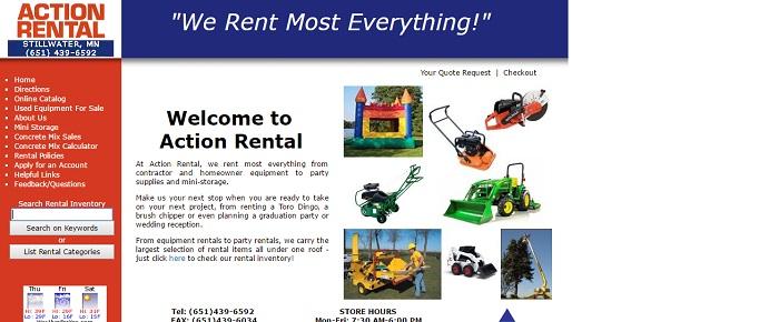 action rental stillwater mn