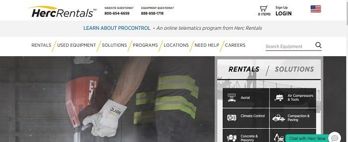 construction equipment rental minnesota herc rentals