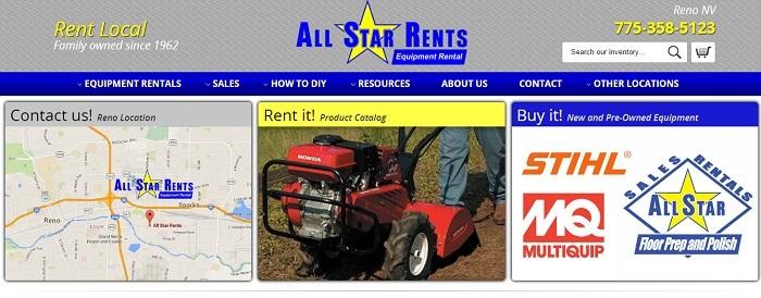 construction equipment rental Nevada