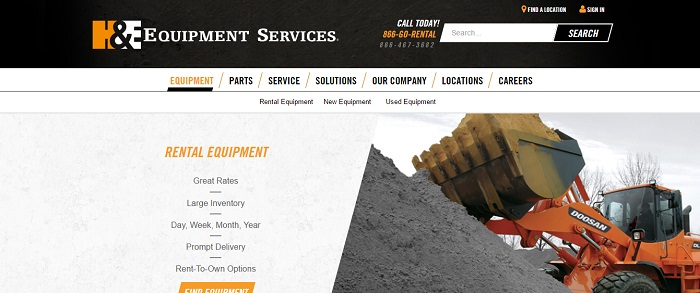construction equipment rental montana