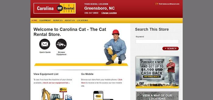 construction equipment rental north carolina