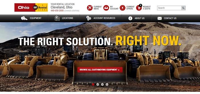 construction equipment rental Ohio