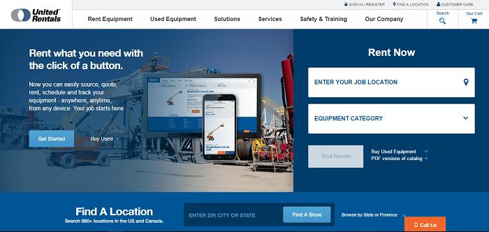 construction equipment rental north dakota