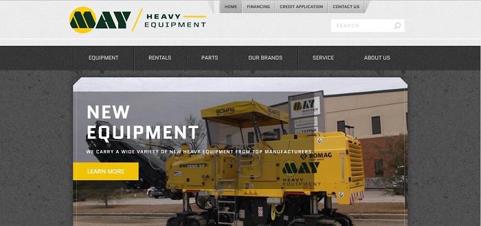 construction equipment rental South Carolina