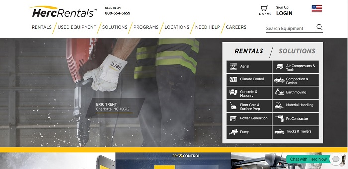 construction equipment rental Pennsylvania