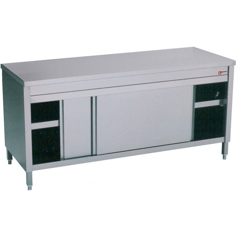 Table Armoire Inox Cuisine Professionnelle Avec Portes