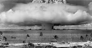 Nuclear Bomb Blast-b&W