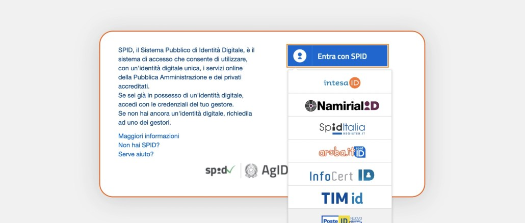 sistema pubblico identità digitale spid scegli