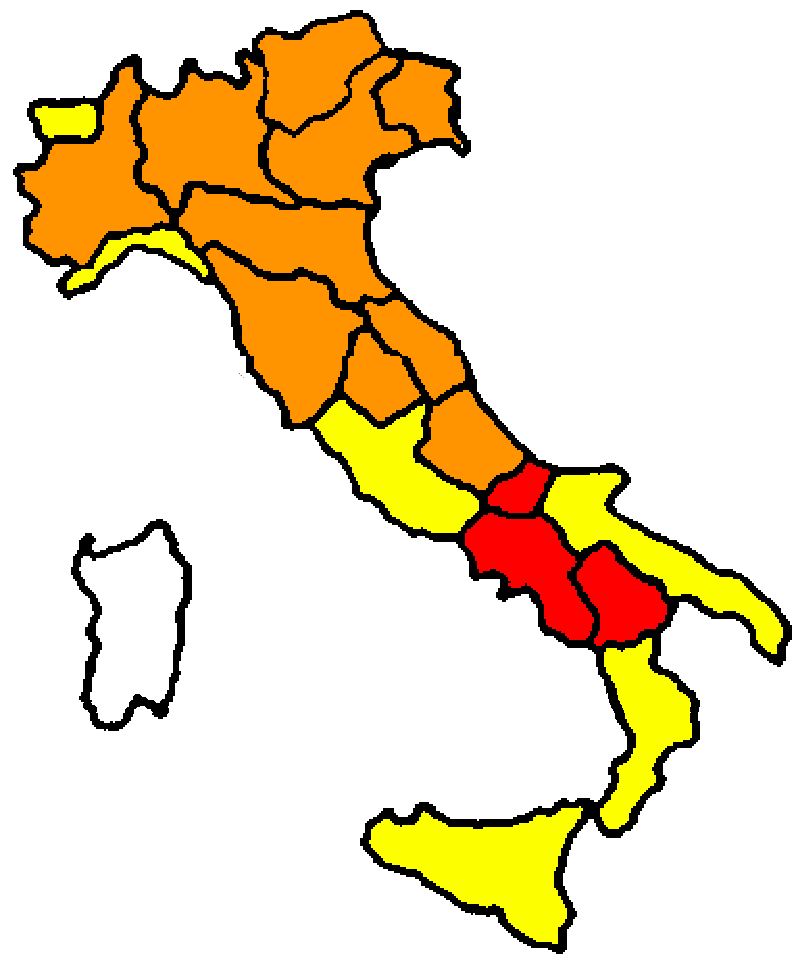 colori regioni 8 marzo 2021