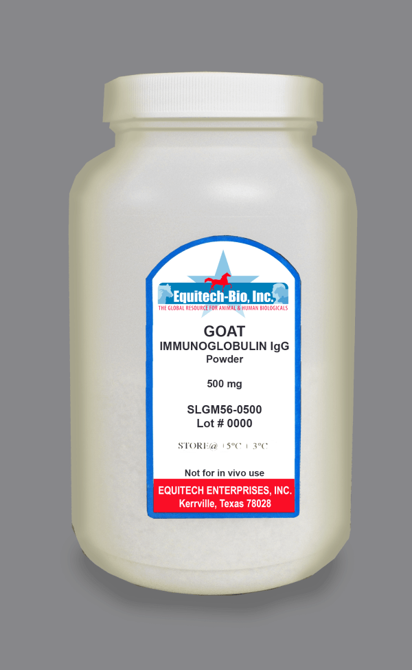SLG56 -- Goat IgG Lyophilized >= 97% Purity