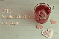 Sachets de thé coeur