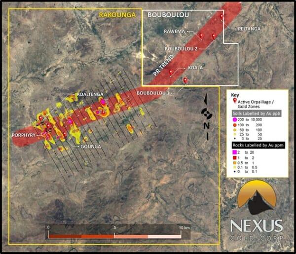 Map Grid Of Australia Zone 50.Nexus Gold Nxs V Confirms Anomalous African Gold Trend Equity Guru