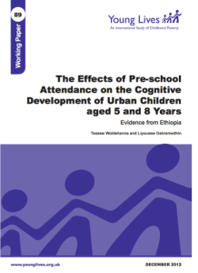 Young Lives Working Paper 89 - Cognitive Development Urban Children(1)