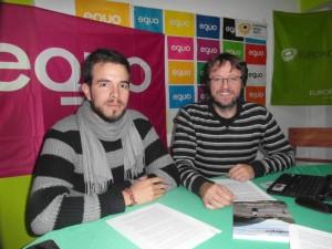 Lorenzo Meler y Luis Rodríguez durante la rueda de prensa de ayer