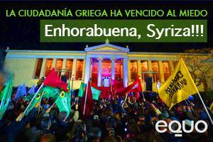 EQUO celebra la victoria de Syriza y la participación de Los Verdes griegos en esta coalición