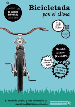 Bicicletada por el clima en Huesca: 28-11-2015